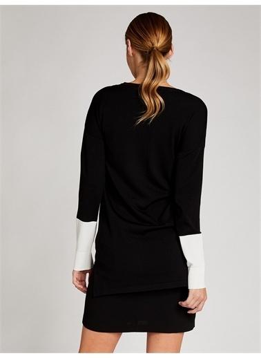 Vekem-Limited Edition Krep Anver Saten Mini Etek Siyah